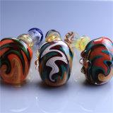 Tubo colorido de cristal de la cuchara del martillo del tubo de la mano del tubo de agua del tubo