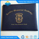 Impressão personalizada de um diploma5 abrange PU Pastas Certificado almofadado