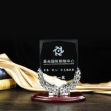 Jahresende Custommetal Grain Authorized Brand High-Grade Crystal Trophy Company spricht freie Beschriftung zu