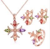 중국 도매 925 순은 고정되는 큰성공의 기회 귀걸이 목걸이 형식 보석