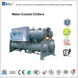 Doppio refrigeratore di acqua dei compressori della vite