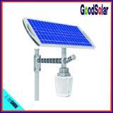 IP que avalia 65 a luz de rua solar branca pura do diodo emissor de luz da bateria 6W-15W de Li