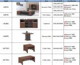 オフィス用家具表はキャビネット、食器棚、コーヒーテーブルのオフィス用家具セットが付いている木のオフィス表をセットする
