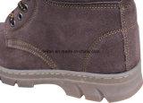 На заводе прямой продажи рельефным коровы Split кожа стальные ноги обувь