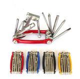 [ألّ-ين-ون] جيب دراجة [توولكيت] متعدّد إصلاح [توول كيت] مفتاح ربط دراجة إصلاح أدوات