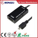 Mhl HDMI 마이크로 USB 2.0 접합기에 여성