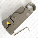 Outil rotatoire de coupeur de décolleur de câble coaxial de liaison pour RG6