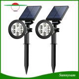 현관 갑판 조경 통로를 위한 태양 스포트라이트 6 LED 운동 측정기 태양 옥외 안전 정원 빛