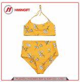 Zweiteiliger Halter-Gleichheit-aufgeteilter hoher Taillen-Druck-reizvolle Bikini-Sommer-Strand-Ferien-Badebekleidung