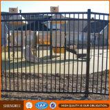 Frontière de sécurité ornementale noire de jardin en métal