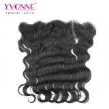 Fechamento brasileiro do Frontal do laço da onda do corpo do cabelo de Yvonne
