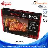 Smontare facilmente la cremagliera antiaderante della nervatura della griglia del BBQ del barbecue