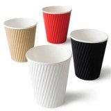 잔물결 벽 에스프레소를 위한 온난한 음료 컵 종이컵