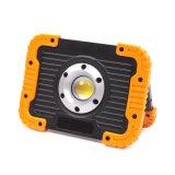 Pilha recarregável 10W luz de LED de sabugo (35-11724-2T R)