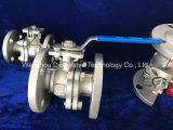 China PN16 PN25 Fundición de inversión 2PC Válvula de bola de brida estándar DIN.