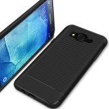 Nuova cassa del telefono della fibra TPU del carbonio per Samsung J7