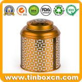 El carrito de té redondo del estaño del metal para el té puede acondicionamiento de los alimentos