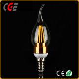 金または銀2With4W C35のフィラメントLEDの球根ライト低価格LEDの球根LEDランプLEDの照明