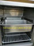 Geladeira vertical (2 portas) para alimentação de cozinha pela fábrica de Guangzhou