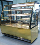 편리한 상점에 있는 케이크 전시를 위한 3개의 선반 Baekry 진열장을%s 가진 구부려진 유리제 문