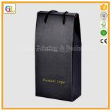 Bolso de empaquetado de papel de la botella de vino 2 (OEM-GL008)