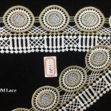 garniture élastique de lacet de beau cercle de la géométrie de 8cm, tissu solide Hme871 de lacet