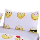 Lächelnde Gesichts-Bettwäsche-gesetzte Polyester-einfacher Entwurfs-Bettwäsche