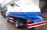 4X2 Dongfeng糞便の吸引タンクトラック4のCBMの糞便のタンク車4000リットルの