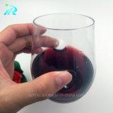 Copo plástico do vinho da curva do dedo do animal de estimação de 8 onças, vidro de vinho plástico