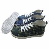 Les chaussures d'injection de toile d'enfants Élevé-Ont coupé les chaussures occasionnelles pour les gosses (ZL1219-5)
