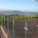Bom preço varanda exterior moderno balaustrada de vidro com a norma DIN EN12150