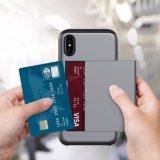 PC+TPU van uitstekende kwaliteit met Stop in het Geval van de Telefoon van de Kaart voor iPhone8