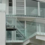 Самомоднейшие Railing Tempered стекла Frameless/тупик нержавеющей стали балюстрады