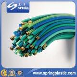 Mangueira espiral reforçada plástico da tubulação do jardim da água do pó da sução do PVC