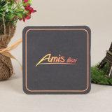 Design personalizado de papelão de papel de algodão drinque coasters (YH-DC008)