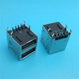 Heißer verkaufenpanel-Montierungs-Doppeltes 2.0 USB-weiblicher Verbinder