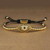 Religiouse Goldschlechtes Augen-Raupe-Armband für Frauen Msbb032
