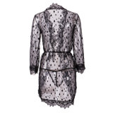 Women Black Sexy Linen room Nightwear Underwear Women' S Ladies Bath Wraps Sleepwear Babydoll Lace Dress