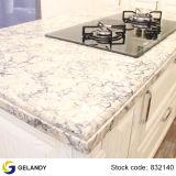 Lastra grigia di pietra costruita artificiale del quarzo della galassia di colore puro caldo di vendita per i controsoffitti della cucina