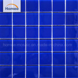 Venda por grosso azul puro impermeável piscina azulejos do piso de mosaico em mosaico