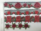 Testo fisso multicolore decorativo del merletto del fiore 3D di vendita calda
