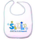 Het Ontwerp van de Douane van de Opbrengst van de Fabriek van China borduurde de Blauwe Katoenen Slab van Terry Knit Baby Saliva Towel