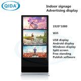 """15 """" LED LCD 21,5 pouces écran tactile LCD numérique réseau permanent Sigange LED Android WiFi kiosque en libre service avec le titulaire d'affichage publicitaire Brochure"""
