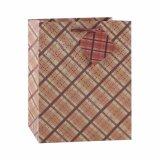 Flor rosa Kraft, patrón de moda bolsa de papel de regalo
