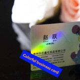 Cartão plástico Printable feito sob encomenda do PVC do negócio do holograma