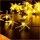 Solarweihnachtslichter 30 Modus-Solarlibelle-feenhafte Zeichenkette-Lichter LED-8 für Weihnachtspartei-Dekoration-im Freien Solarlampe