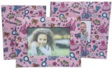 Photo Album with Colored Printed Paper Cover and Paper Photo Frame Set