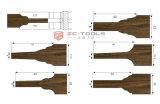 Zc Panel de puerta de carburo de forma que forman el perfil de cuchilla cortadora (UN04005)