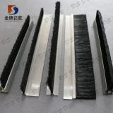 F/h Forma de suporte de alumínio estanqueidade de porta escova de Borracha