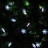 Angeschaltenes Schneeflocke-Weihnachtsdekoratives Zeichenkette-Solarlicht für Partei, Rasen und Garten
